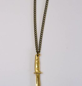 Model Citizen MC Dagger Necklace Brass