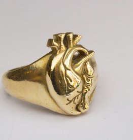 MC Heart Ring Brass