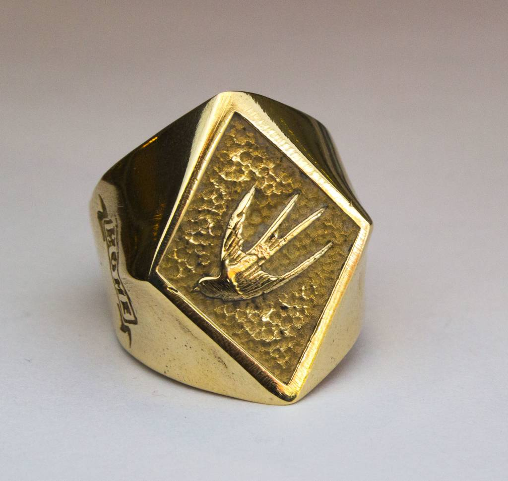 MC Biker Ring Brass
