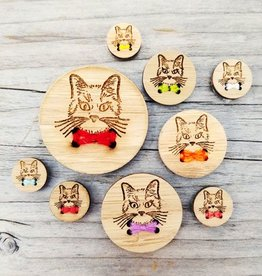 """Katrinkles Cat Buttons 5/8"""""""