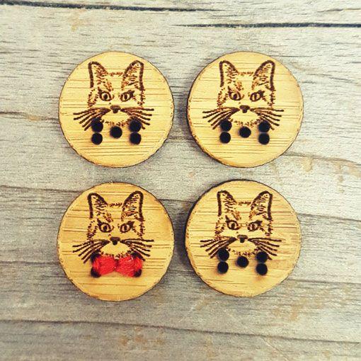 "Katrinkles Katrinkles Cat Buttons 5/8"""