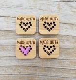 Katrinkles Katrinkles Made With Love Stitchable Heart Tags