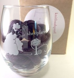 Knitbaahpurl Wine Glass Stemless