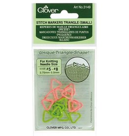 Clover 3149 Stitch Markers Triangle Small