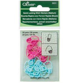Clover 3031 Quick Locking Stitch Markers Medium