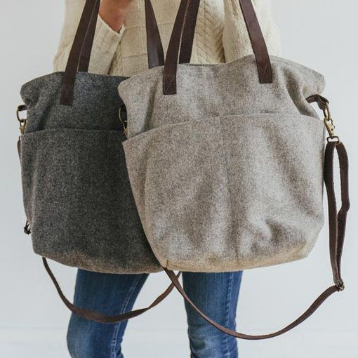 Twig & Horn Twig & Horn Wool Crossbody Project Tote