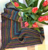 River Colors Studio Swing Time Shawlette - starting the garter tab