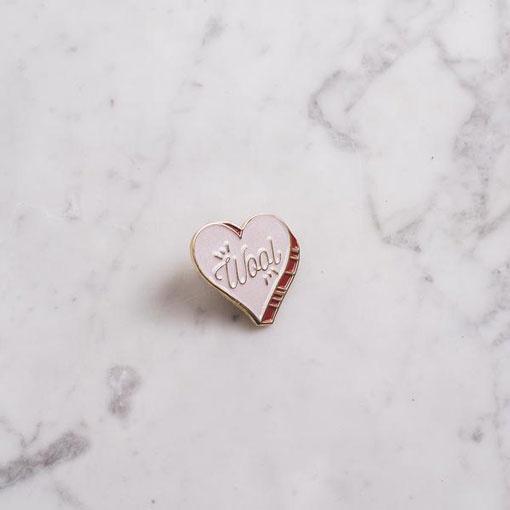 K2TOG Club K2TOG Club Wool Heart Enamel Pin