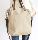 Twig & Horn Khaki Canvas Crossbody Project Tote