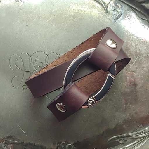 JUL Designs JUL Flat Oval Ring Shawl Cuff Espresso