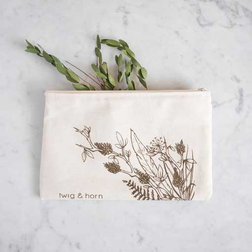 Twig & Horn Twig & Horn Illustrated Zip Pouch