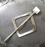 JUL Designs JUL Designs Mid-Century Modern Square Shawl Pin