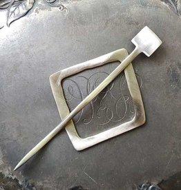 JUL Designs Mid-Century Modern Square Shawl Pin