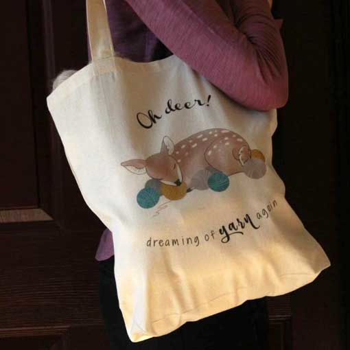 NNK Press Oh Deer Tote