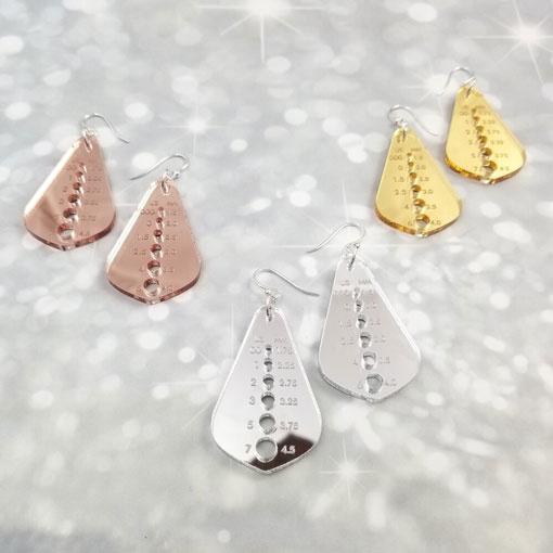 Katrinkles Katrinkles Metallic Needle Gauge Earrings