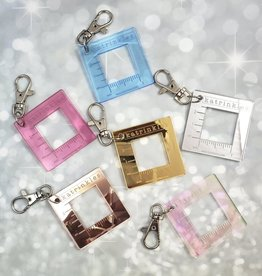 "Katrinkles Metallic 1"" Swatch Ruler Fob Clip"
