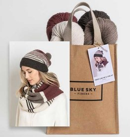Blue Sky Fibers Forest Lake Hat & Cowl Kits