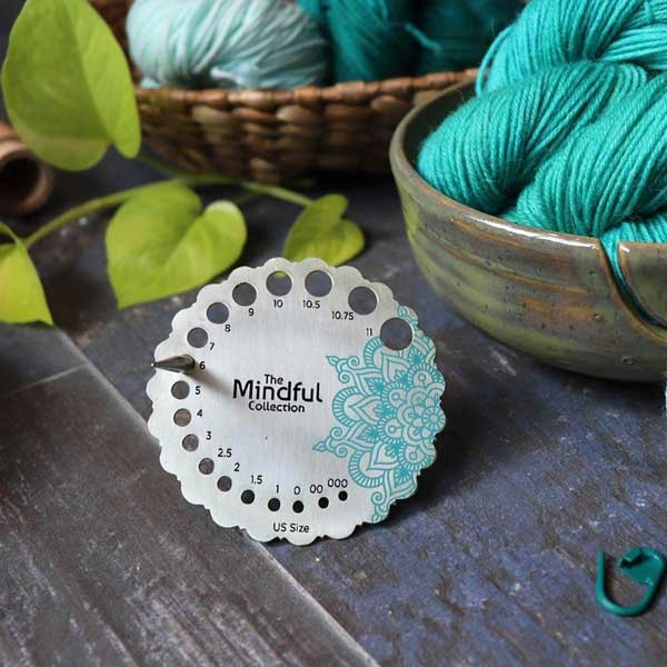 Knitter's Pride Mindful Collection Sterling Plated Needle Gauge