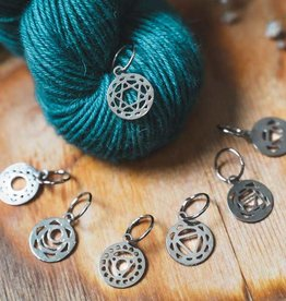 Knitter's Pride Sterling Silver Plated Chakra Stitch Markers