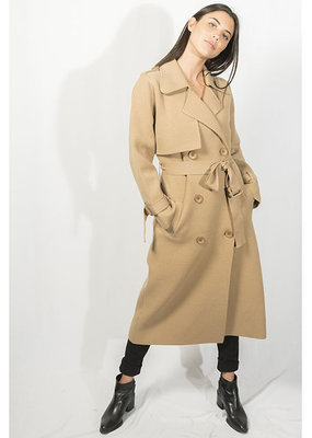 Lyla & Luxe Preston Knit Trench