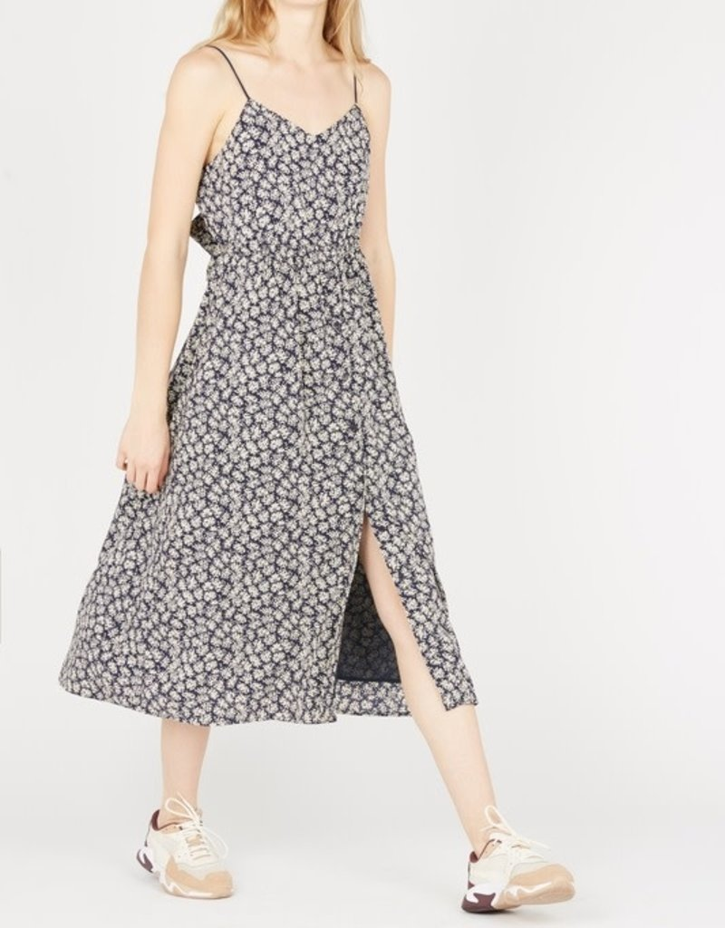 THE KORNER Crepe Midi Dress
