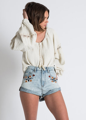 One Teaspoon Woodstock Bandits High Waist Denim Short