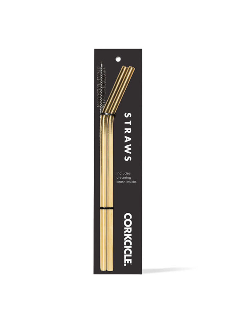 Corkcicle Gold Straw 2-Pack