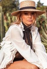 Ace Of Something Selene Straw Boater Hat