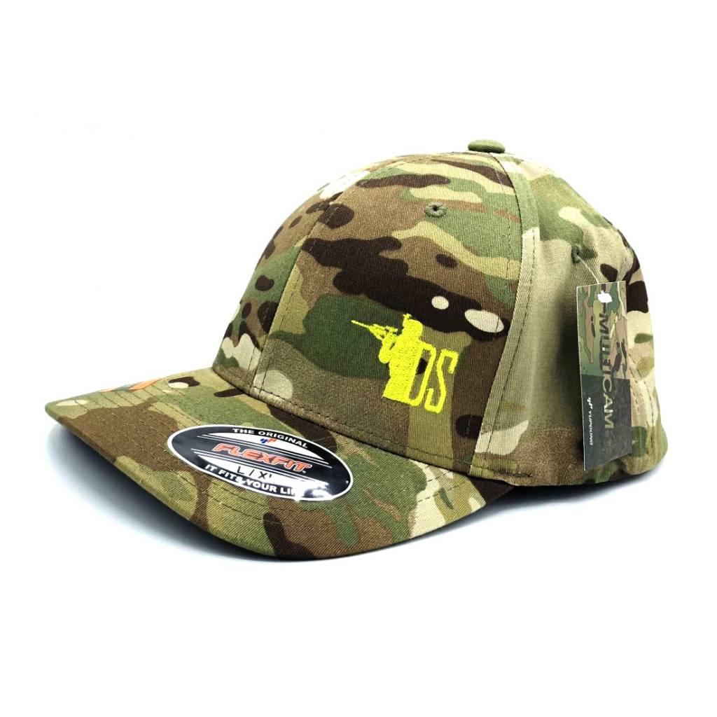 """DS Tactical DST """"Gun Guy"""" Logo Flex Fit Cap - Multicam"""