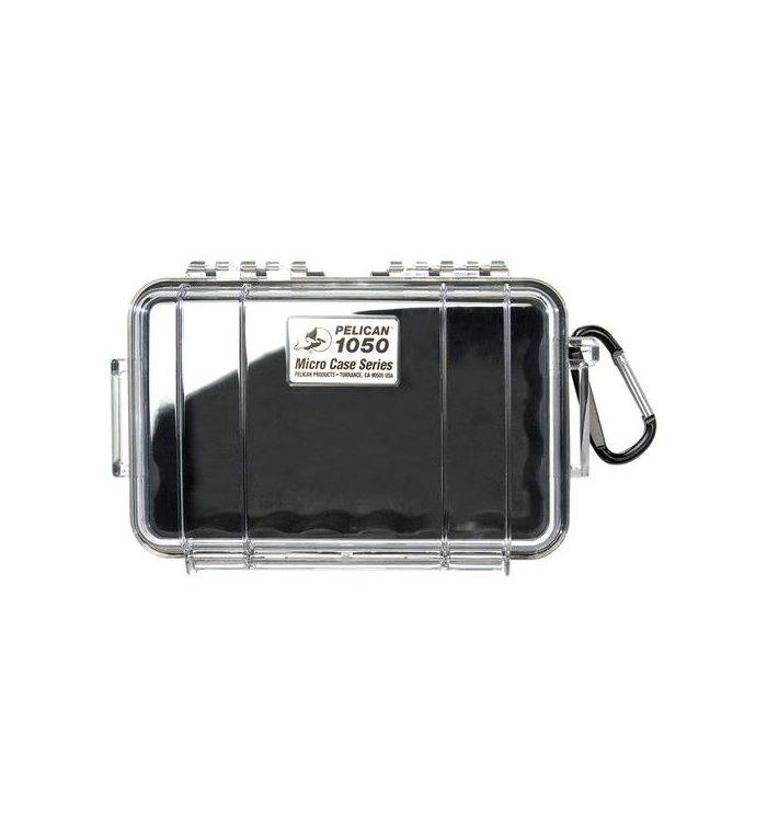 Pelican Products Pelican Products 1050 Micro Case, WL/WI - BLACK, CLEAR