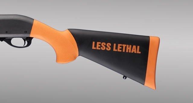 Hogue Hogue Remington 870 12 Gauge Less Lethal Orange OverMolded Shotgun Stock