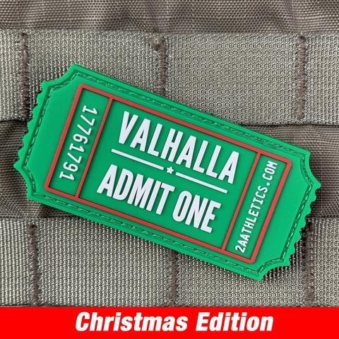 Violent Little Machine Shop Violent Little Machine Shop Valhalla Admit One Morale Patch - Christmas Edition