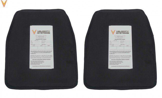 "Velocity Systems Velocity Systems 10""x12"" Plate Backer Soft Armor NIJ III-A, 33A Dyneema (Pair)"