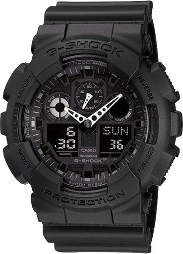G-Shock G-Shock GA100-1A1 X-Large G. Black resin band with black Ana-Digi face