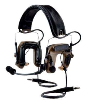 3M 3M PELTOR COMTAC IV Hybrid Tactical Communication Headset MT16H044FB-19 CY, Dual Comm, Headband, Flexi Boom Mic