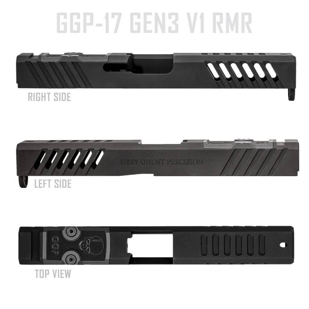 Grey Ghost Precision GGP Glock 17 Gen 3 Slide with RMR Cut