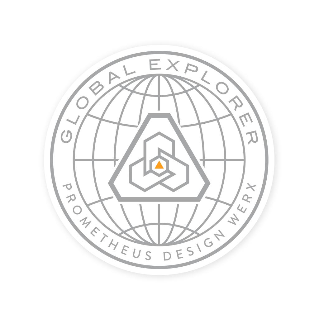 Prometheus Design Werx Prometheus Design Werx PDW Global Explorer Sticker