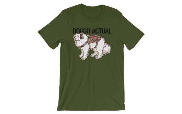 Weapon Outfitters Weapons Outfitters Paigeosity Art Doggo Actual Crewneck T-Shirts