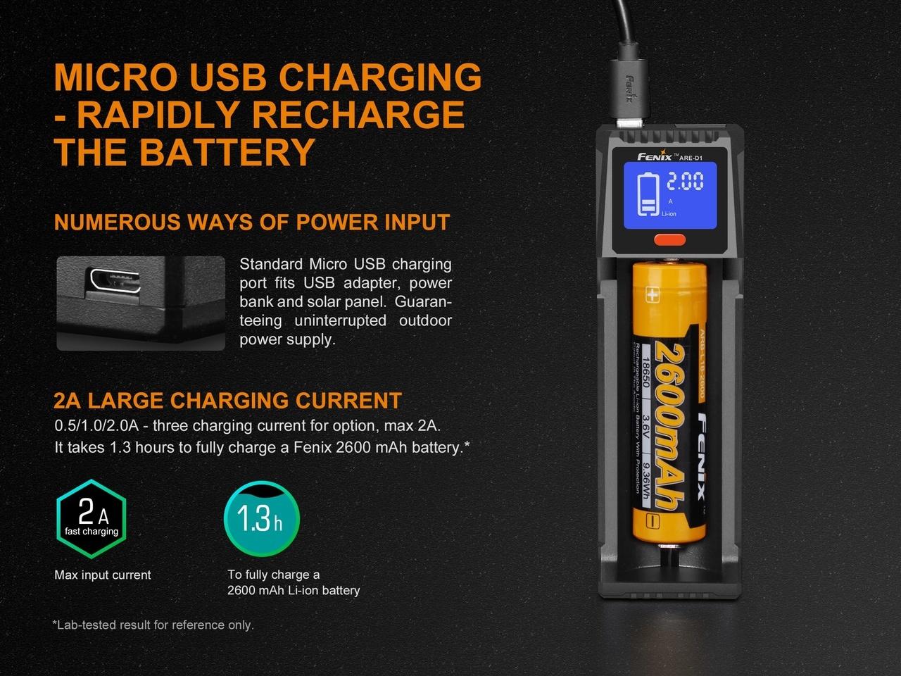Fenix Fenix ARE-D1 Single Channel Smart Battery Charger