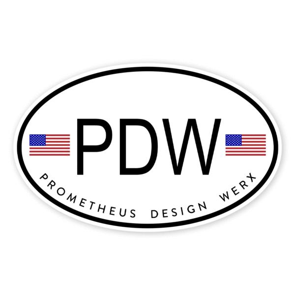 Prometheus Design Werx Prometheus Design Werx PDW International Sticker
