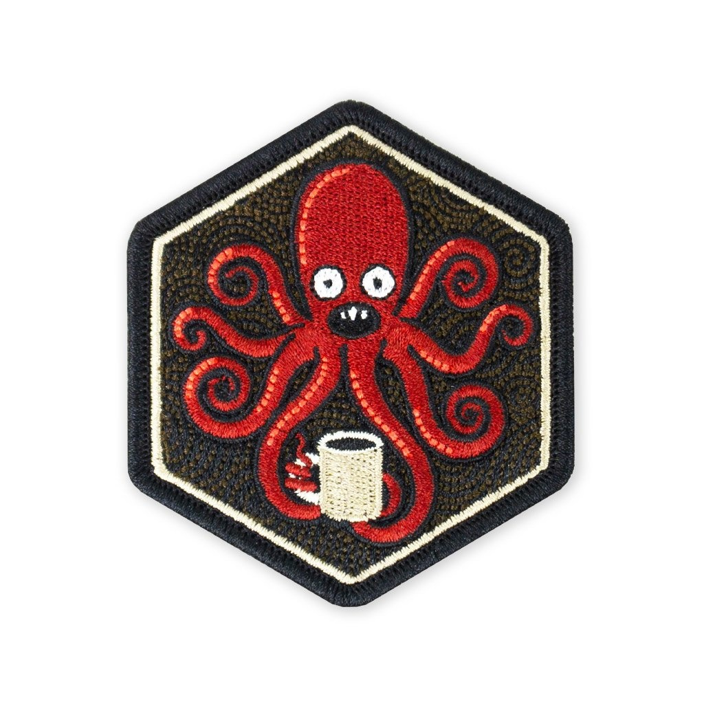 Prometheus Design Werx SPD Kraken  Black Coffee 2019 Morale Patch