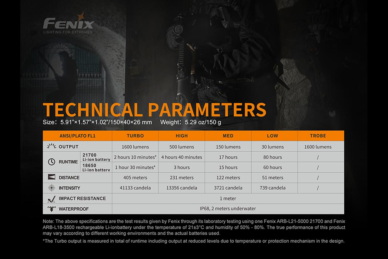 Fenix Fenix TK22UE Tactical Flashlight - 1600 Lumens
