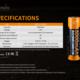 Fenix Fenix USB Rechargeable 21700 Li-ion Battery - 5000 mAh