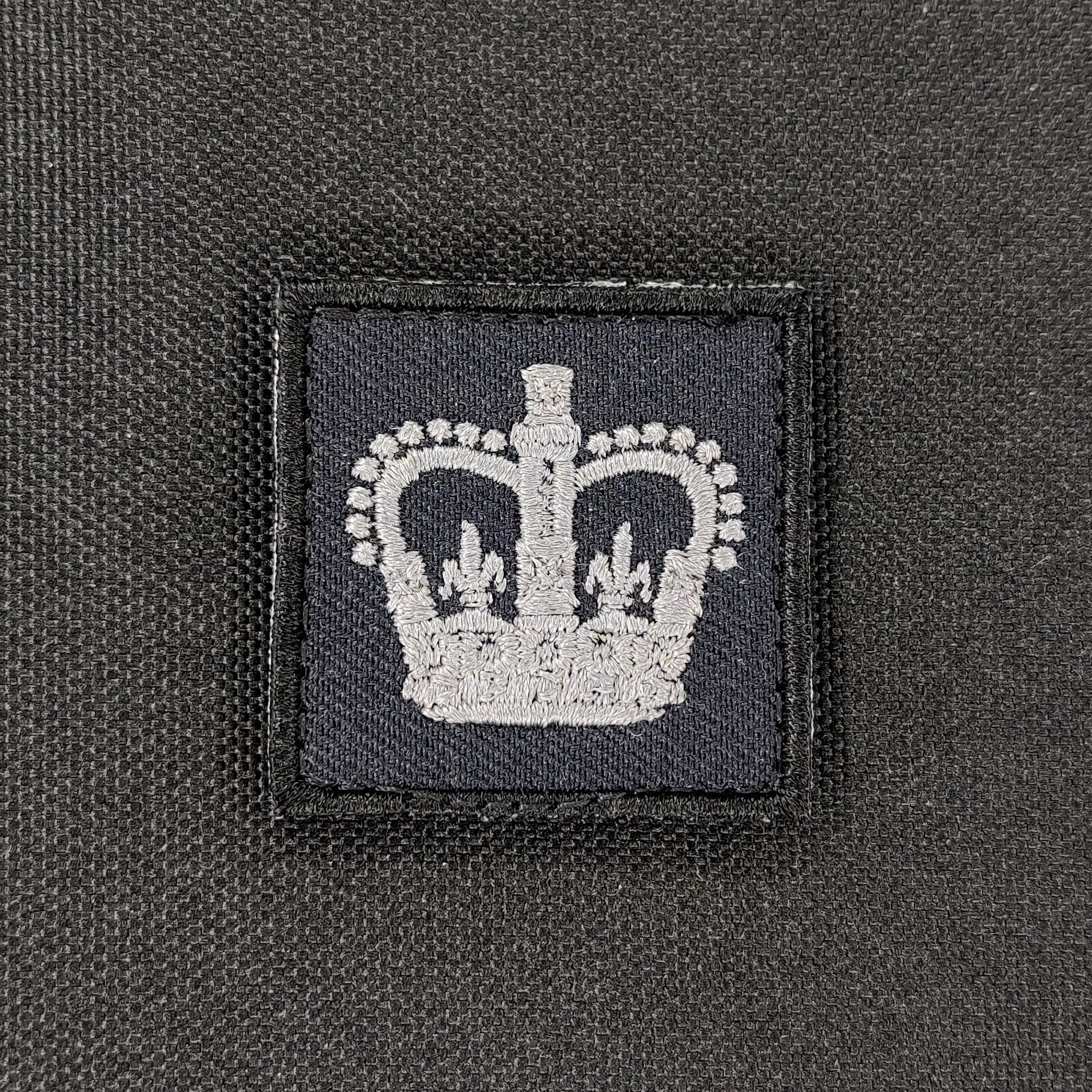Emblazon Emblazon RCMP Mini Rank Square Patch - Subdued Grey Thread