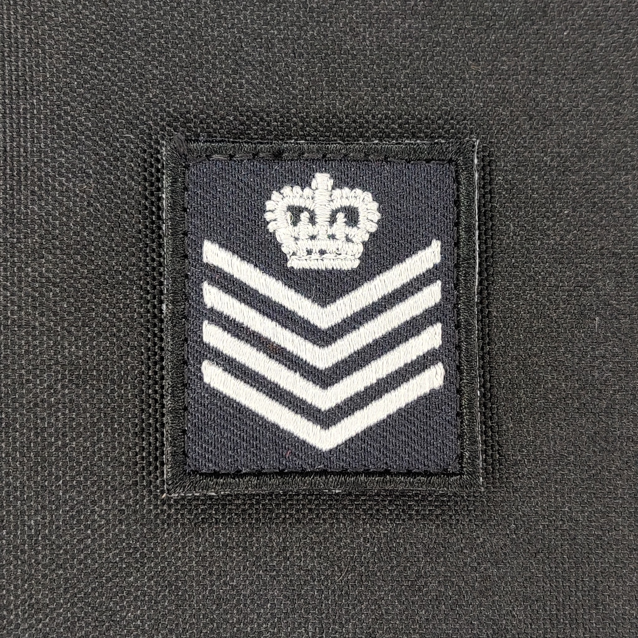 Emblazon Emblazon RCMP Mini Square Rank Patch - White Thread