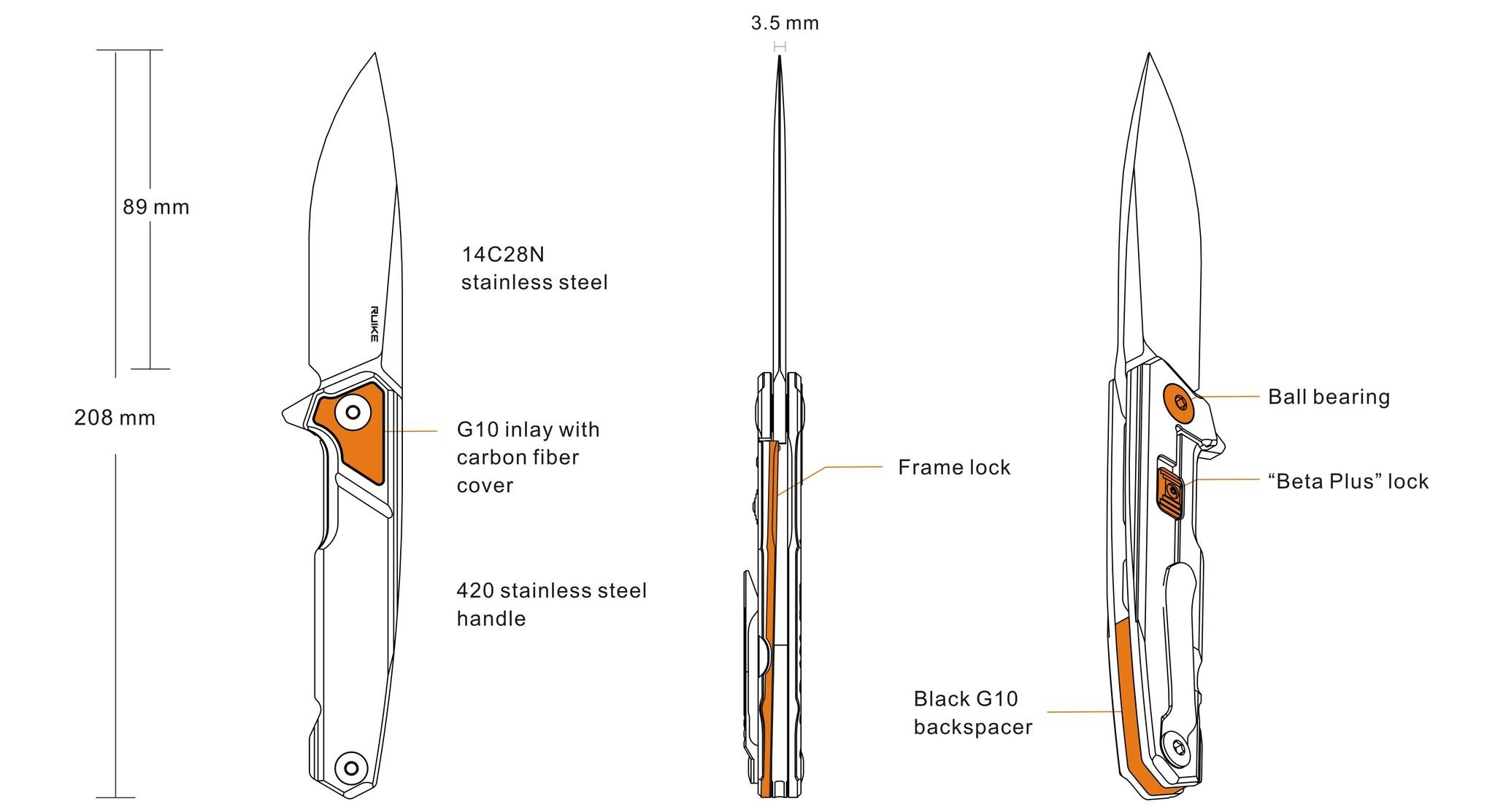 Ruike Knives Ruike Knives P875-SZ