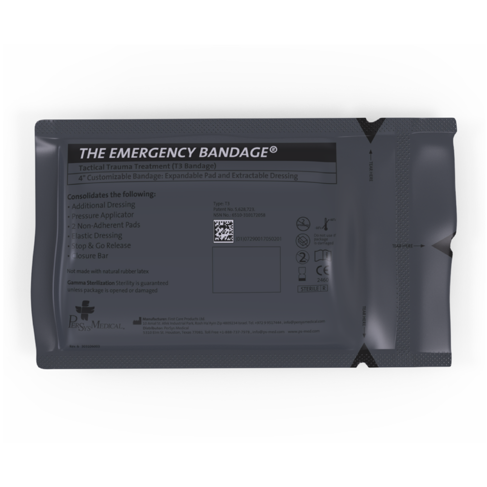 """PerSys Medical PerSys Medical 4"""" T3 Tactical Trauma Treatment Bandage"""