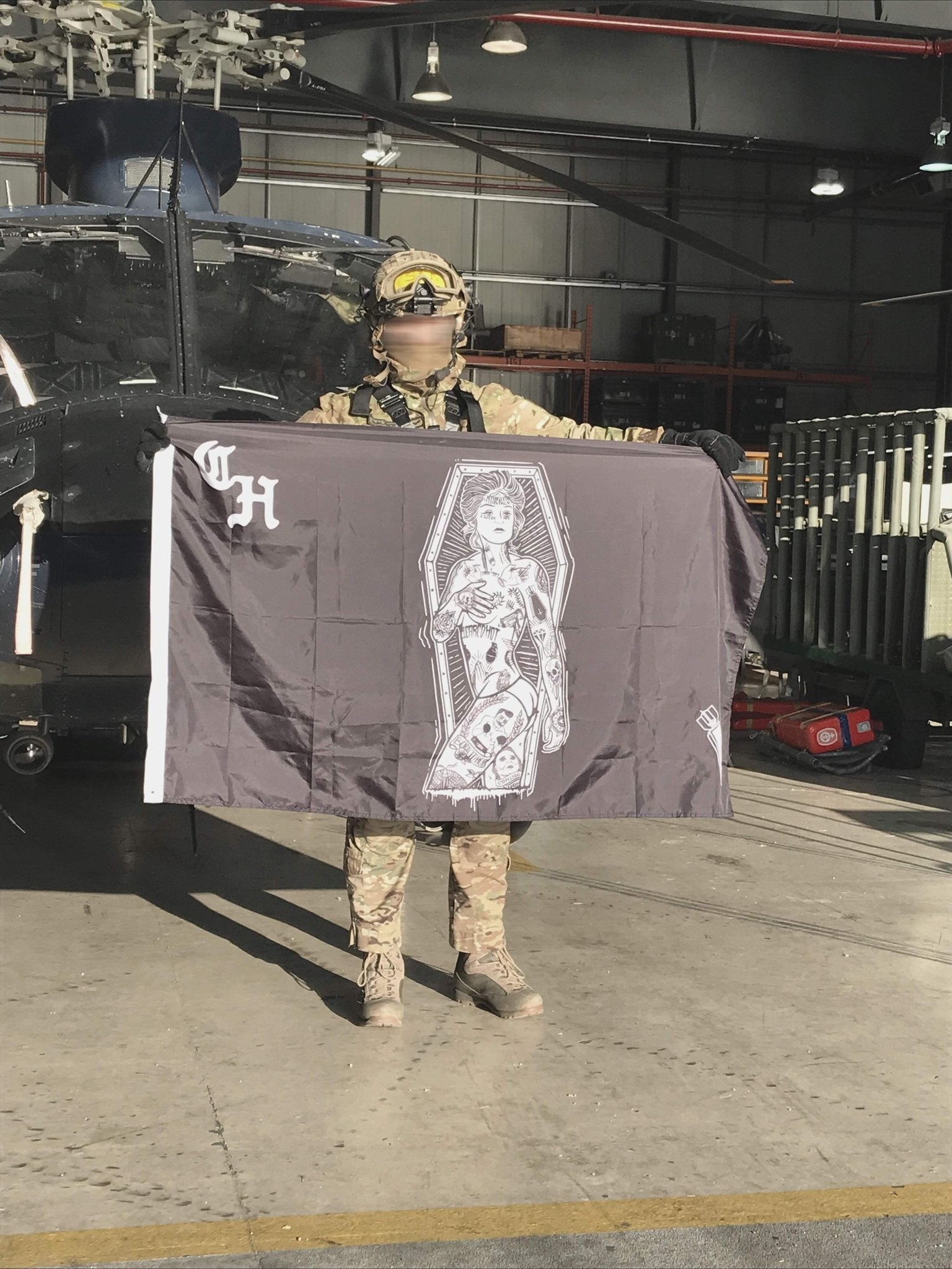 Cleared Hot Co. Cleared Hot Co. Pinup Crew Flag