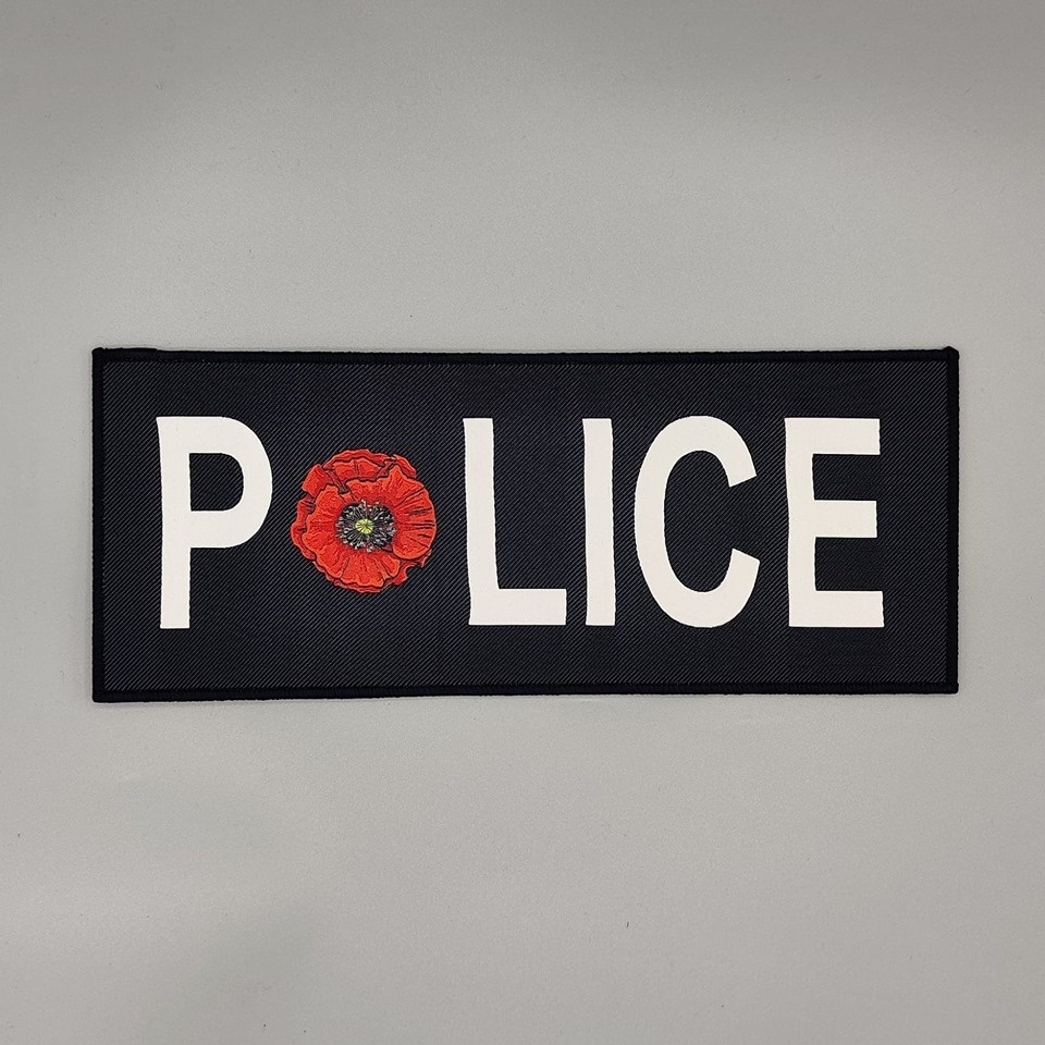 "DS Tactical Police Poppy Patch 4""x10"""