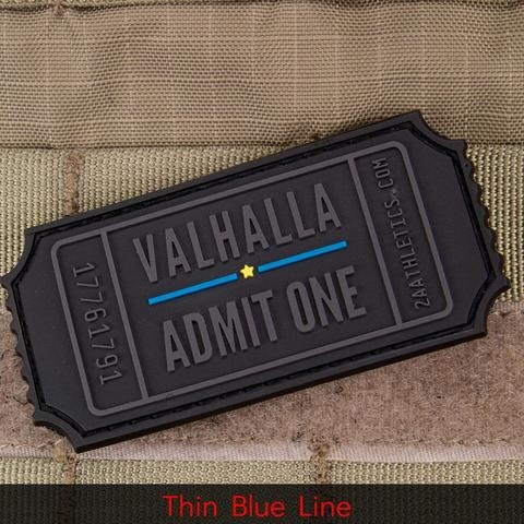 Violent Little Machine Shop Violent Little Machine Shop Valhalla Admit One Morale Patch - Thin Blue Line